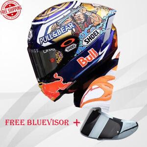 Shoeii X14 X-Spirit 3 Motorcycle Full Face Helmet  Bull Marc Marquez Motegi 3 ✔