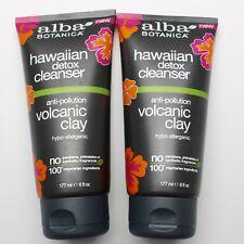 Alba Botanica Hawaiian Detox Cleanser Volcanic Clay Face Wash 6 oz each LOT 2