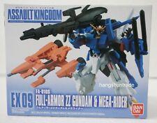 Bandai Assault Kingdom Ex 09 Fa-010S Full-Armor Zz Gundam & Mega Rider Figure