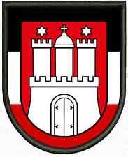 Sammeln & Seltenes Hamburg HH Aufnäher Aufbügler Patch Flagge