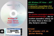 Microsoft Windows XP Home - Komplettes Paket DVD CD und CoA Lizenz 32Bit
