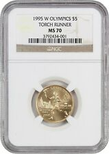 1995-W Olympic Torch $5 NGC MS70 - Modern Commemorative Gold