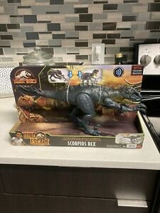 JURASSIC WORLD Camp Cretaceous Dino Escape Slash 'N Battle Scorpios Rex ☁️