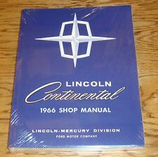 1966 Lincoln Continental Shop Service Manual 66 Body Chassis