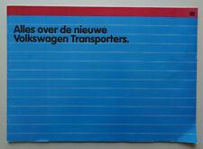 V21136 VOLKSWAGEN TRANSPORTER 'T3' - CATALOGUE - 04/79 - 30x42 - NL