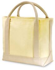 GP Yellow Cotton Canvas Casual Tote Bag Picnic Grocery Shopper Shoulder Handbag
