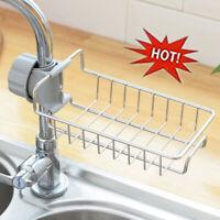 Faucet Shelf Stainless Steel Kitchen Storage Rack Soap Holder Drain Rag-Spo D2I4