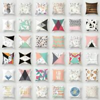 """18"""" Geometric Printed Polyester Throw Pillow Cases Sofa Cushion Cover Home Decor"""