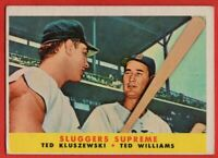 1958 Topps #321 Ted Williams VG-VGEX+ Boston Red Sox FREE SHIPPING