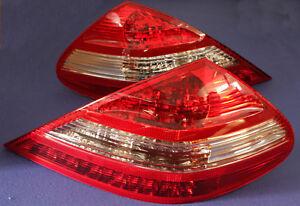 MERCEDES BENZ SL R230 CLEAR RED TAIL LIGHTS SL350 SL500 SL600 SL550  NEW
