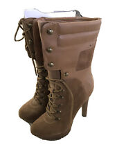 Bebe Rihanna Construction PLatform Lace Up Boot. . NWT. Heel Height 5 1/4