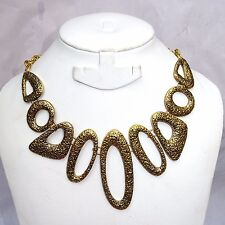 Retro Style Vintage Gold Bronze Color Necklace Jewellery Gift for Women