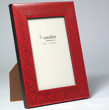 Natalini Red Gold Hand Made in Italy Wood Marquetry Photo Picture Frame 4x6 New