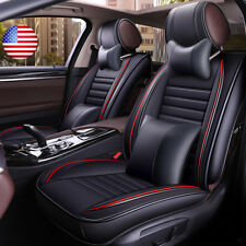 13x Deluxe Leather Full Surround Seat Cover Cushion Set For Universal Car 5 Seat