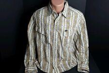 Nautica Jeans Co Western Men's Medium Paisley Shirt Vintage Retro Style Hipster