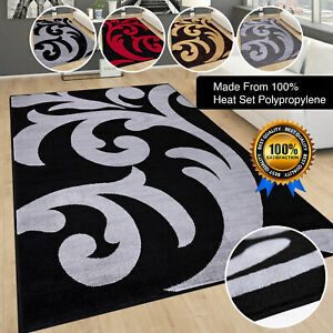 Gold Beige Black Small Extra Large Big Size Grey Floor Carpets Rugs Mats Cheap