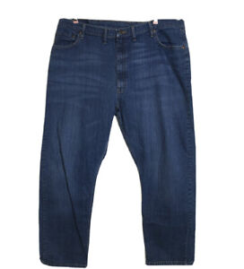 Wrangler Mens Relaxed Fit Straight Leg Blue Jeans Size 44 x 30