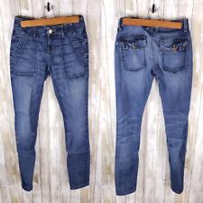 Current/Elliott Women's Combat Skinny Jeans Blue Denim Tahoe Size 25
