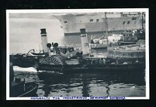 Navy British Devon Devonport steam paddle tug Illustrious 1951 photo plain back
