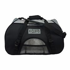 Pet Carrier Heavy Duty Dog Cat Carrier Tote Bag Kennel with Fleece Bed Black
