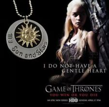 """Game Of Thrones Khaleesi Daenerys My Sun And Stars Necklace 2"""" Silver US Seller"""