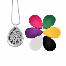 Stainless Steel Pendant Tree of Life Teardrop Essential Oil Diffuser Scent Aroma