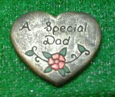 Dad GRAVE SIDE TRIBUTE GARDEN MEMORIAL HANDMADE NATURAL STONE HEART
