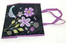 Vera Bradley Reusable Shopping Bag Tote Market Eco Purple Navy Floral Birds