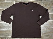Roca Wear Mens Thermal Waffle Long Sleeve Shirt Base Layer Gym Brown Sz 2XL XXL