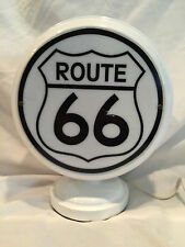 Collectible Man Cave, Bar Route 66 Gasoline Gas Pump Globe Black & White Lamp