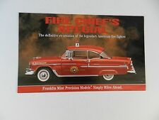 Franklin Mint 1955 CHEVROLET BEL AIR FIRE CHIEF SPECIAL Brochure Pamphlet Mail