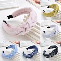 New Women Girls Hairband Twist Bow Knot Cross Headband Hair Band Headwear Gift