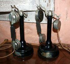 2 Téléphone à colonne ancien  Société Industrielle des téléphones à restaurer