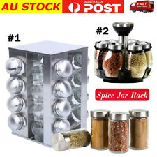 6/16 Jar Rotating Spice Rack Kitchen Seasoning Rack Stainless Steel Stand Holder