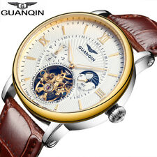 GUANQIN Luxury Business Fashion Automatic Mechanical Leather Men's Watch
