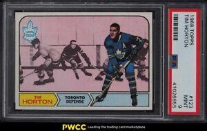 1968 Topps Hockey Tim Horton #123 PSA 9 MINT