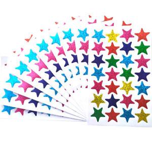Multi-coloured STAR STICKERS For School Children Reward DIY CraftBook PARTYBAG
