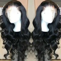 Glueless 360 Lace Front Wigs Pre Plucked Wavy Indian Virgin Human Hair Full Lace
