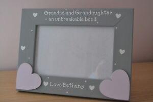Personalised handmade photo frame -  GRANDAD GRANDAUGHTER UNBREAKABLE BOND