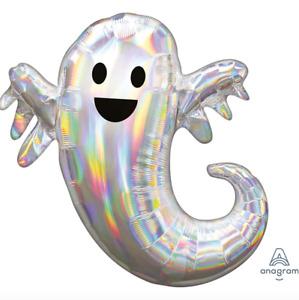 "Halloween Iridescent Ghost 25"" SuperShape Foil Balloon"