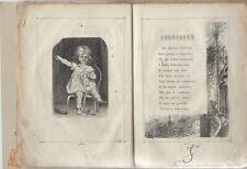 Libro illustrato per bambini rima Libro rosso Giulietta Giornale Fanciulle 1871
