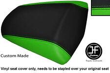 BLACK & LIGHT GREEN VINYL CUSTOM FITS KAWASAKI Z 1000 SX 10-13 REAR SEAT COVER