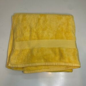 "World Market Bath Towel Color Yellow 100% Cotton 28"" x 54"""