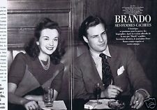 Coupure de presse Clipping 1994 Marlon Brando ses femmes cachées  (4 pages)