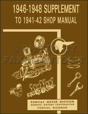 1946-1947-1948 Pontiac Repair Shop Manual Supp Torpedo Silver Streak Streamliner