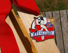 Washington District 9 Little League Baseball Metal & Enamel 2014 Medal Lanyard