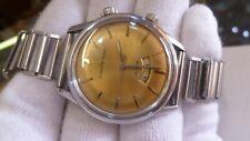 Girard Perregaux Alarm Hand Winding Watch Original Band 17 Jewels Gold Face 7742