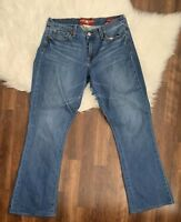 """Lucky Brand Womens 10/30 Sofia Boot Cut Ankle Jeans Medium Wash 30"""" Inseam"""