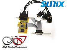 GAMME INDUSTRIELLE SUNIX - Carte PCIe 4 Ports COM RS232 + 1 Port LPT - MIO5499A