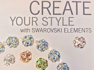 Genuine Swarovski® 8mm Crystal Balls - Gold or Silver Plate - Choose Color 1 PC.